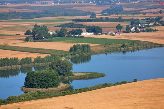 Jezioro Czyste EU, PL, Kujawsko-Pomorskie. LOTNICZE.