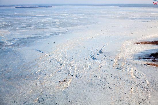 Jezioro Sniardwy, widok od strony NW. EU, Pl, Warm-Maz. Lotnicze.