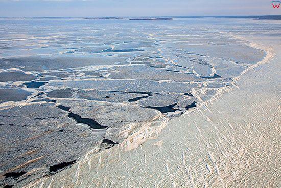 Jezioro Sniardwy zimowa pora, widok od strony W. EU, Pl, Warm-Maz. Lotnicze.