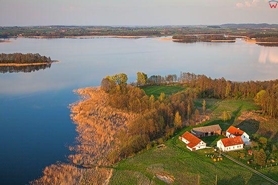 Jezioro Stregiel. EU, Pl, Warm-Maz. Lotnicze.
