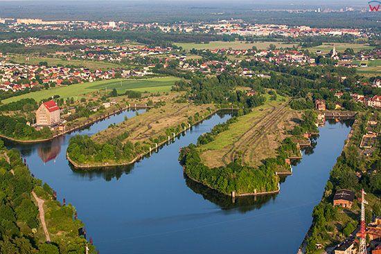 Port Kedzierzyn - Kozle. EU, Pl, Opolskie. Lotnicze.