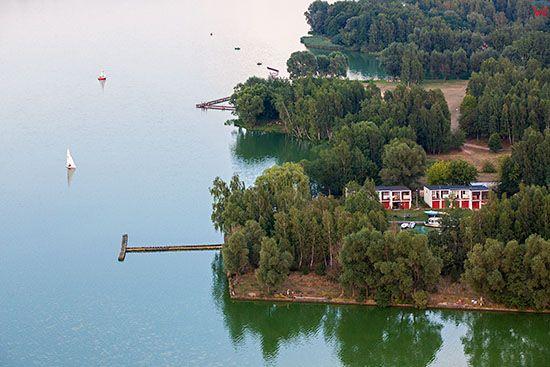 Jezioro Pokrzywnickie - Zbiornik Szale. EU, Pl, Wielkopolskie. Lotnicze.