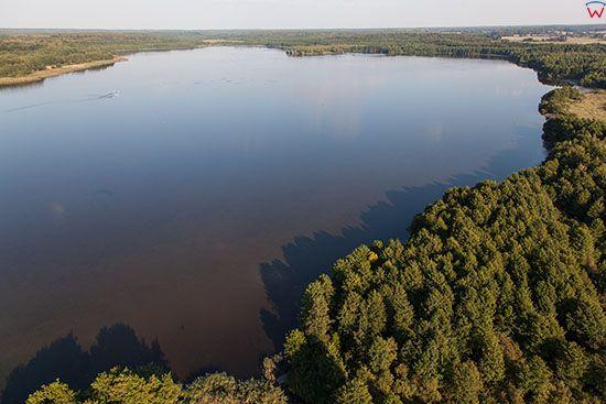 Jezioro Gaudy Kolo Kamienca. EU, PL, Warm-Maz. Lotnicze.