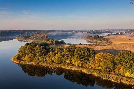 Jezioro Ilawskie - zachodni brzeg. EU, PL, Warm-Maz. Lotnicze.