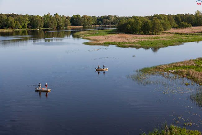 Dzierzenin, rozlewiska rzeki Narwi. EU, Pl, Mazowieckie. Lotnicze.