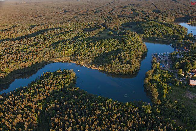 Jezioro Guzianka Wielka. EU, PL, Warm-Maz. Lotnicze.