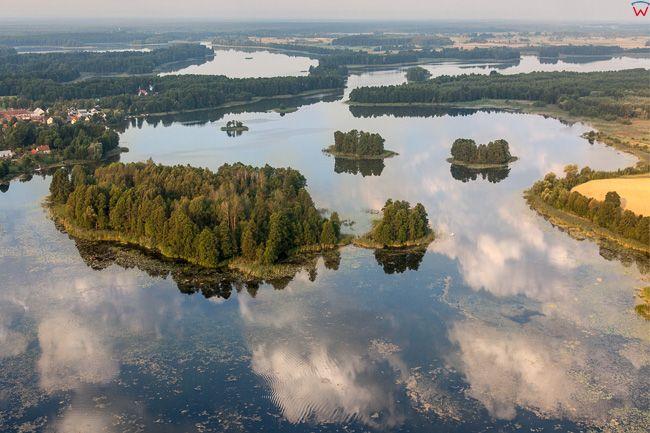 Jezioro Druglin Duzy. EU, Pl, Warm-Maz. Lotnicze