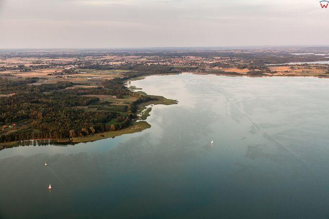 Jezioro Mamry widoczne od strony W. EU, PL, Warm-Maz. Lotnicze.