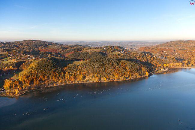 Jezioro Czechowskie. EU, Pl, Malopolskie. Lotnicze.