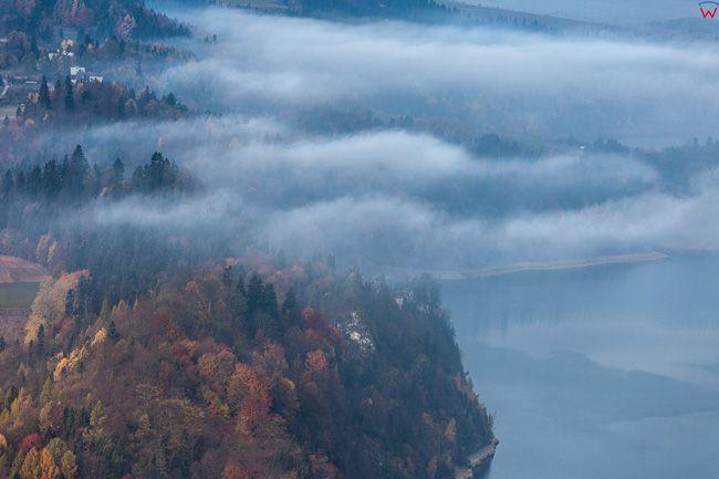 Jezioro Czorsztynskie. EU, PL, Malopolskie. Lotnicze.