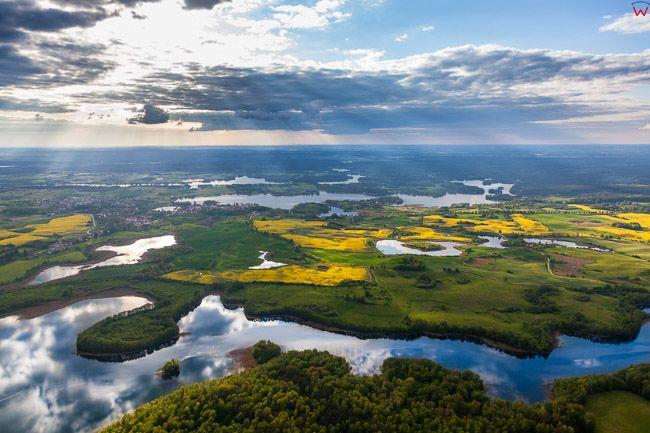 Jezioro Lelelskie. EU, Pl, warm-maz. Lotnicze