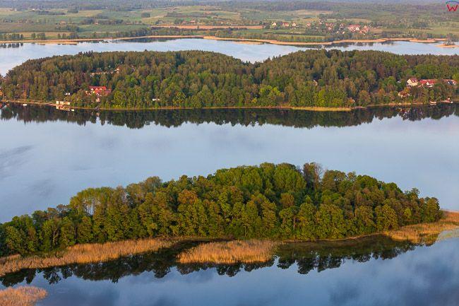 Jezioro Narie, Wielki Ostrow i Kretowiny, EU, PL, Warm-Maz. Lotnicze