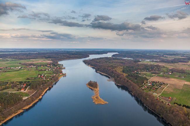 Jezioro Ruda Woda. EU, PL, Warm-Maz. Lotnicze.