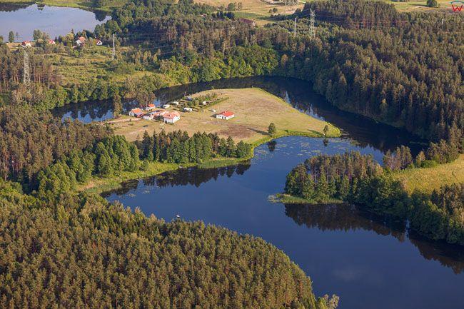 Meandry rzeki Lyny miedzy Olsztynem a Dobrym Miastem. EU, PL, warm-maz. Lotnicze.