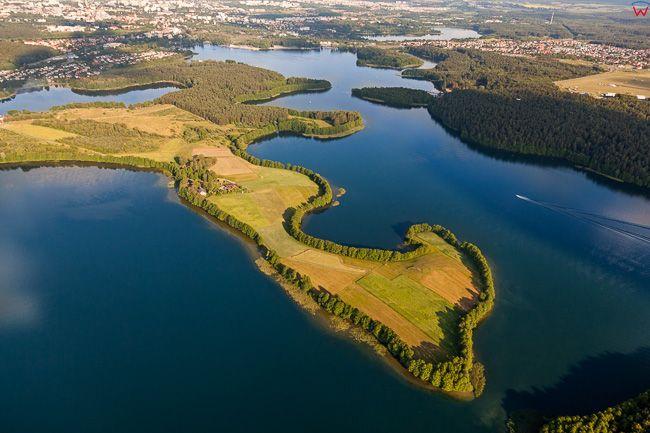 Jezioro Ukiel. EU, PL, warm-maz. Lotnicze.