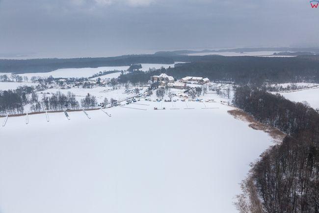 Jezioro Dargin i Sztynorckie 17.01.2017 r. Wielkie Jeziora Mazurskie zimowa pora. EU, Pl, Warm-Maz. Lotnicze.