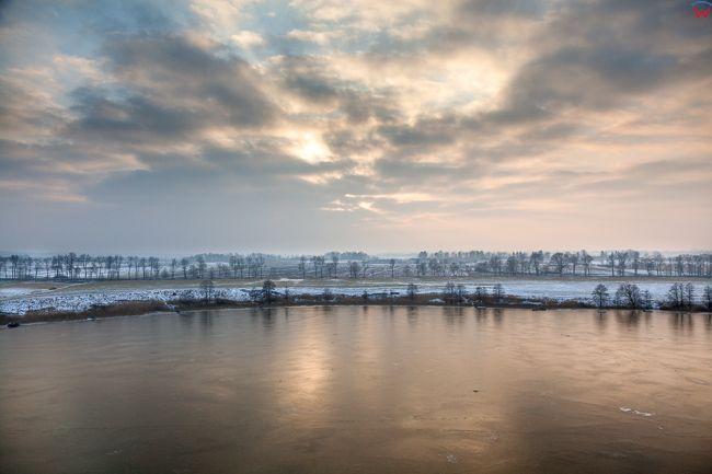 Jezioro Wielochowskie, 01.02.2017 r. Zimowa panorama. EU, Pl, Warm-Maz. Lotnicze.