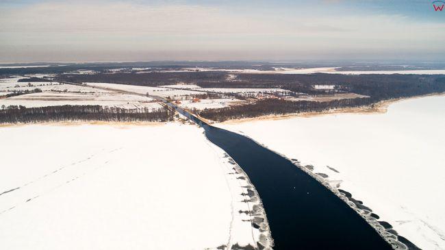 Jezioro Ros w zimowej odsłonie.  EU, Pl, warm-maz. Lotnicze.