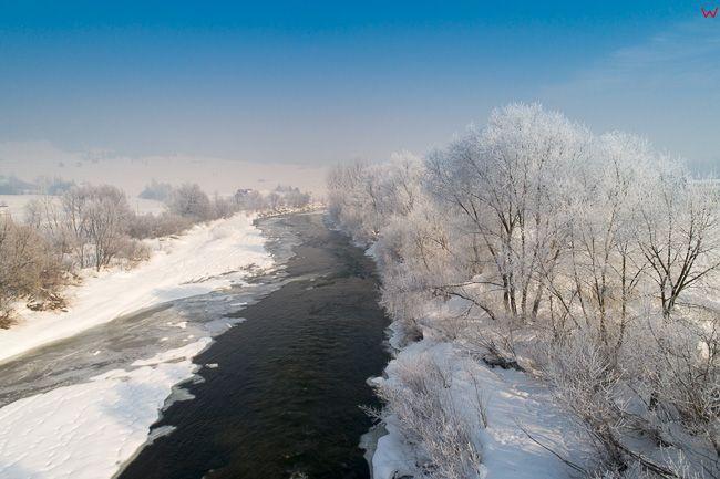 Dunajec w okolicy Nowego Targu. EU, PL, malopolskie, Lotnicze