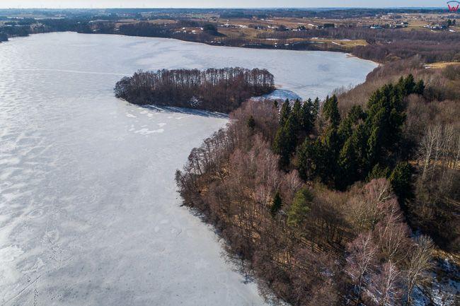 Blaskowizna, jezioro Hancza. EU, Pl, Podlaskie. Lotnicze.