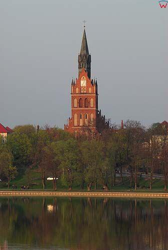 _W060183 panorama Ełku przez jezioro Ełckie