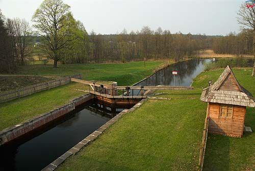 _W060554 śluza Gorczyca na Kanale Augustowskim. Wieś Płaska.