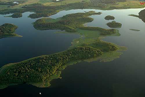 Lotnicze. Jezioro Kisajno.