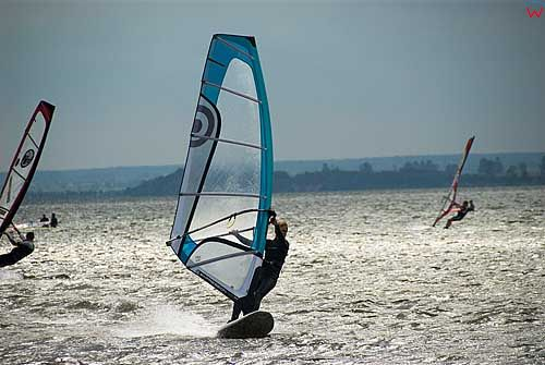 Chalupy. Zatoka Pucka, Windsurfig.