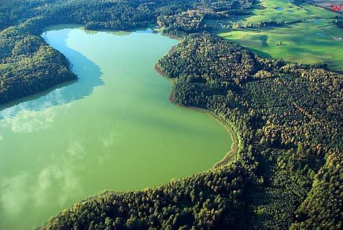 LOTNICZE. Jezioro Taftowo, okolica Ornety.