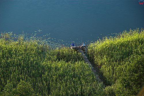 LOTNICZE, warm-maz. Wedkarze na jeziorze Biesowko.
