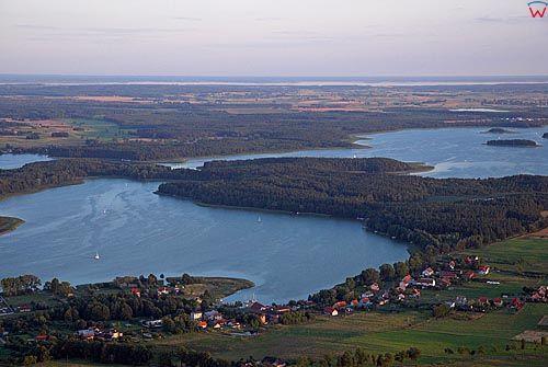 LOTNICZE. Warm-Maz. Jezioro Niegocin i Jagodne, okolica Bogaczewa