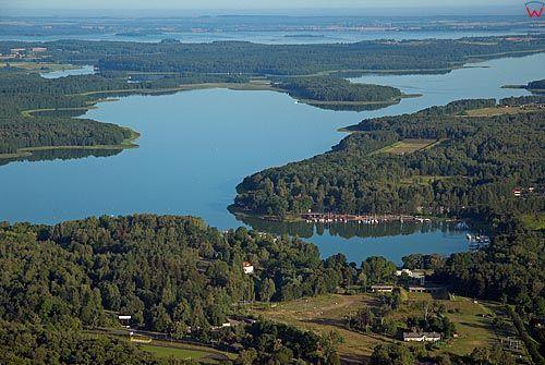 LOTNICZE. Warm-Maz. Gizycko jezioro Kisajno.