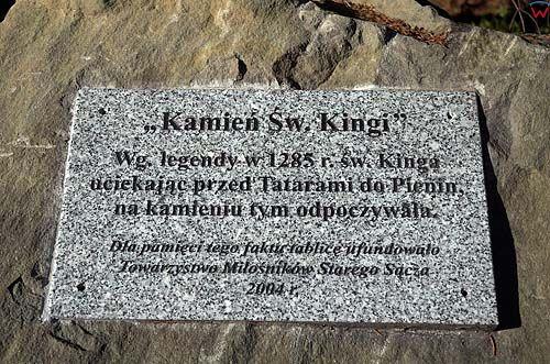 Kamień Świętej Kingi, Beskid Sądecki