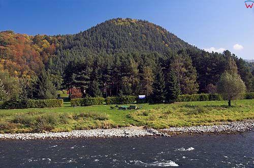 Beskid Sadecki wieś Borownice, rz. Poprad, góra Bystra