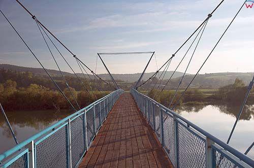 Most na Dunajcu w okolicy wsi Tropiel