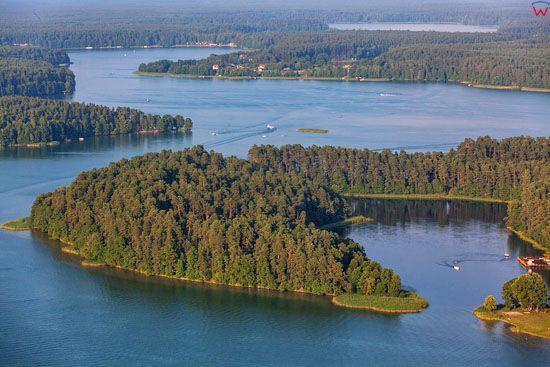 Jezioro Biale Augustowskie. EU, PL, Podlaskie. Lotnicze.