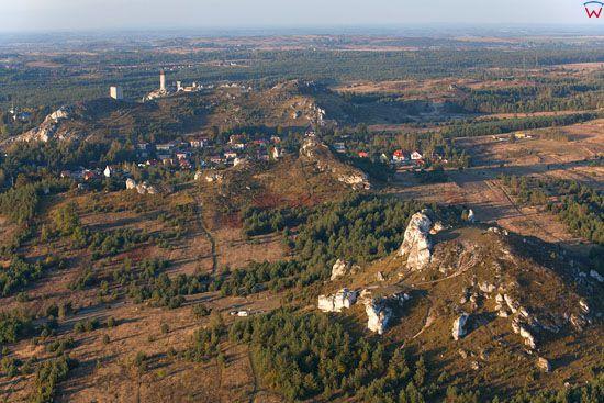 Jura Krakowsko-Czestochowska, Gora Biaklo na tle Olsztyna,