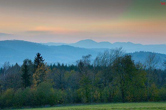 Gory Sowie, panorama od strony E. EU, Pl, Dolnoslaskie.