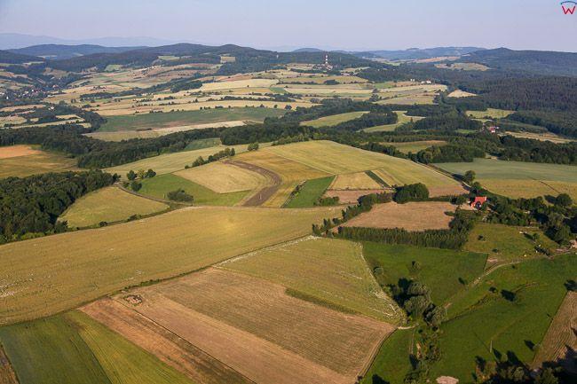 Park Krajobrazowy Chelmy. EU, PL, Dolnoslaskie. Lotnicze.