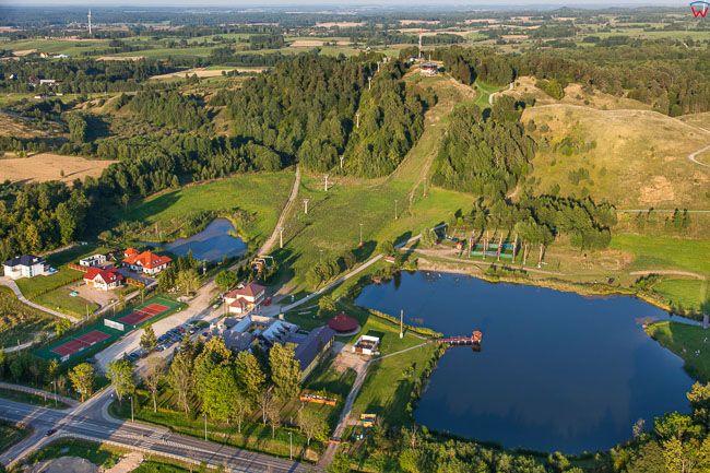 Goldap, Panorama na Piekna Gore. EU, Pl, Warm-Maz. Lotnicze.