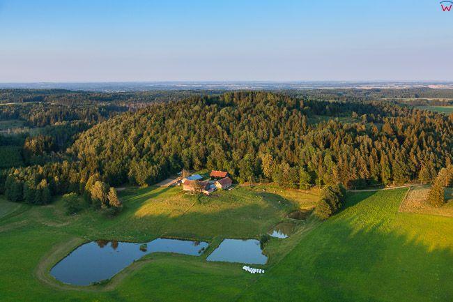 Szeska GĂłra (309 m npm). EU, Pl, Warm-Maz. Lotnicze.