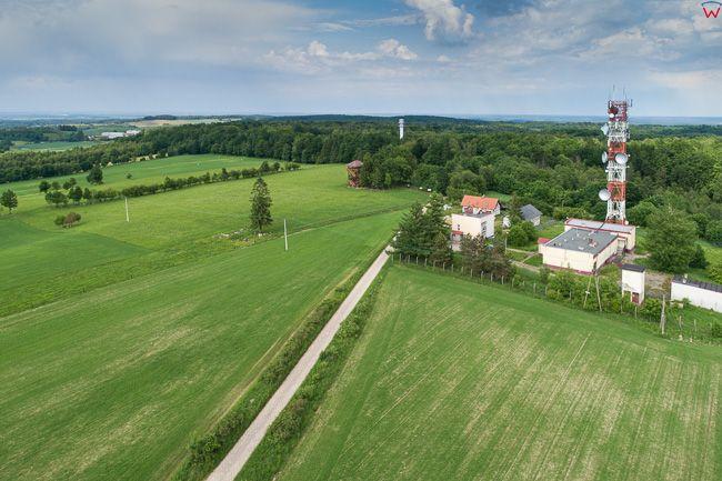 Dylewska Gora 312m n.p.m. najwyzsze wzniesienie morenowe Wzgorz Dylewskich, 22.05.2018. EU, PL, warm-maz. Lotnicze.