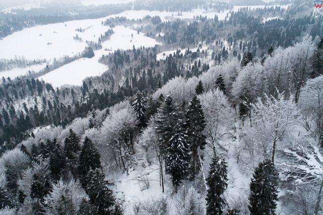 Pieniny w okolicy Szlachtowa. EU, PL, malopolskie, Lotnicze
