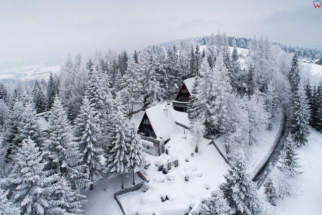 Gorce w zimowej scenerii. EU, PL, malopolskie, Lotnicze