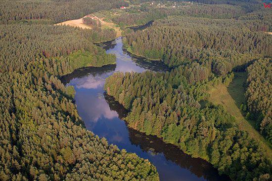 Lotnicze, PL, warm - maz. Rozlewiska rzeki Lyna na wysokosci Olsztyna.