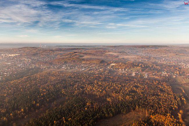 Puszcza Dulowska, okolica Trzebina. EU, Pl, Malopolska. Lotnicze.