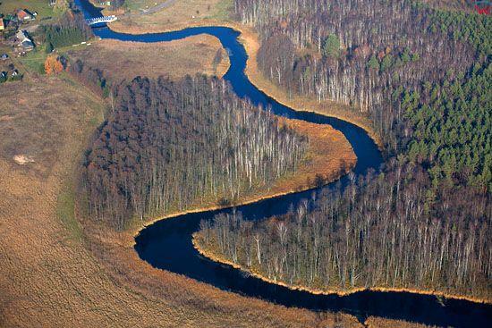 Lotnicze, EU, Pl. Mazurski Park Krajobrazowy. Rzeka Krutynia.