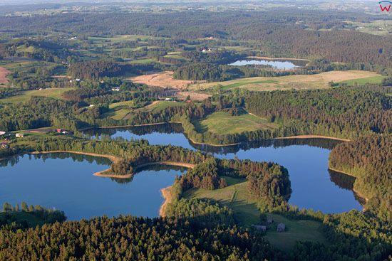 Suwalski Park Krajobrazowy. Jezioro Jaczno. EU, Pl, warm-maz, LOTNICZE.