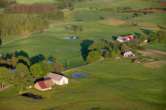 Suwalski Park Krajobrazowy. Wies Czajewszczyzna. EU, Pl, warm-maz, LOTNICZE.