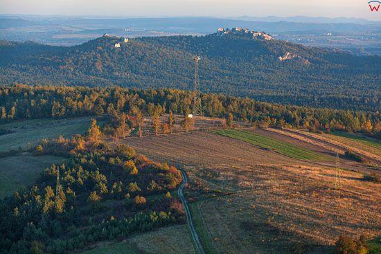 Jura Krakowsko - Czestochowska, Rezerwat Gora Zborow, widok od strony N, EU, Pl, Slask, LOTNICZE.